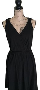 Ann Taylor LOFT short dress Black Cotton on Tradesy