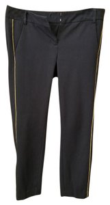 Express Straight Pants Black with Gold Cord