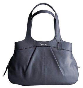Coach Satchel in Graphite (rare color)