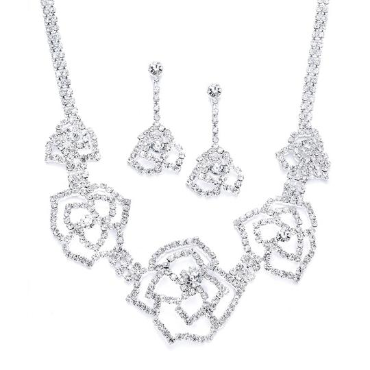 Preload https://item1.tradesy.com/images/mariell-rhinestone-necklace-and-earrings-set-with-etched-roses-1945675-0-0.jpg?width=440&height=440