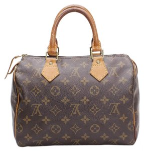 Louis Vuitton Lv Signature Speedy 25 Medium Satchel in Brown