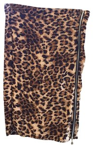 Skirt Leopard black brown and tan