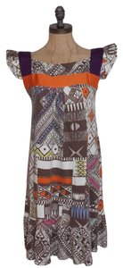 Trafaluc short dress MULTI COLOR Stretchy Flutter Sleeves Printed on Tradesy