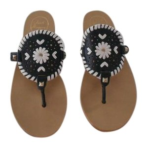 Jack Rogers Large Medallion Chic Style Midnight/White Sandals