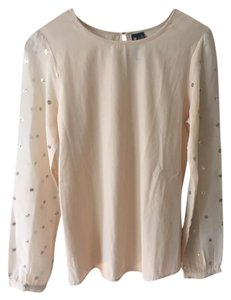 Influence Shimmery Stud Gold Top Peach