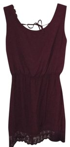 Brandy Melville short dress Maroon on Tradesy