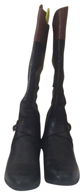 Item - Black and Brown Boots/Booties Size US 8 Regular (M, B)