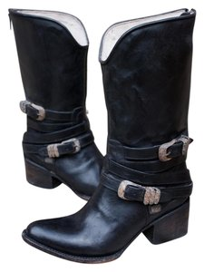 FreeBird By Steven Pikes Midcalf Leather Size Black Boots