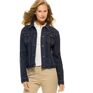 Lauren Jeans Company Denim Vintage Dark Blue, Navy Womens Jean Jacket