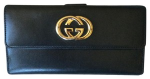 Gucci Gucci Leather Continental Wallet
