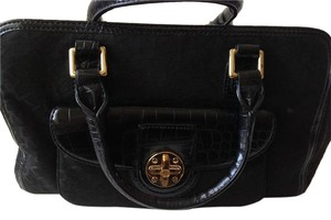 DKNY Leather Satchel in Black
