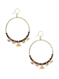 Chan Luu Chan Luu Teak Hoop Earrings