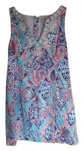 Lilly Pulitzer short dress Blue, White, Pink, Red Shift Shift on Tradesy