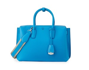 MCM Tote in Turquoise blue