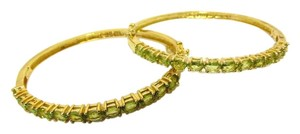 Technibond Technibond Peridot Gemstone Bangle Bracelet