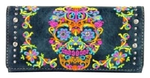Montana West MW326-W002 Montana West Sugar Skull Collection Wallet