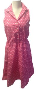short dress Pink Polka Dot House on Tradesy