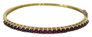Technibond Technibond Red Garnet Bangle Bracelet fits 7