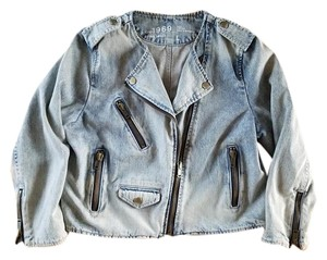 Gap Collarless Denim - Nautical Wash Womens Jean Jacket
