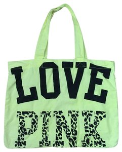 PINK Tote in Neon Yellow, Black