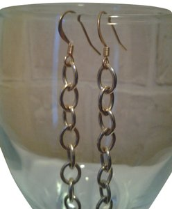 Other New HANDMADE Gold CHAIN Links EARRINGS 4 inches