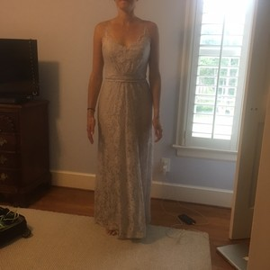 Amsale Pale Gray Dress