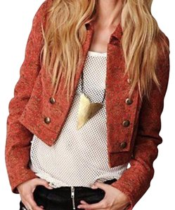 Free People Military Jacquard Military Jacket