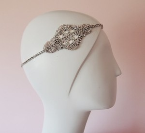 Wedding Headpiece Goddess Headpiece Chain Rhinestone Headpiece Bridal Boho Bohemian Headpiece Hippie Hair Jewelry Silver