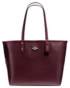 Coach Tote in Oxblood Burgundy Red