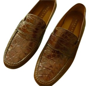 Mezlan Crocodile Leather BROWN Flats