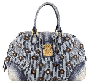 Louis Vuitton Denim Polka Satchel