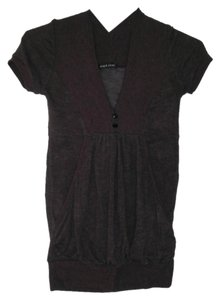 Wet Seal V-neck Short-sleeve Kangaroo Pouch Comfortable Sweater