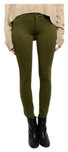 Leggings Soft Full Length Skinny Pants Olive