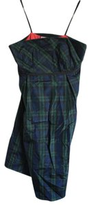 Vineyard Vines short dress Plaid: Green, Blue, Black, Pink Preppy Christmas Party Holiday Party Fall Strapless on Tradesy