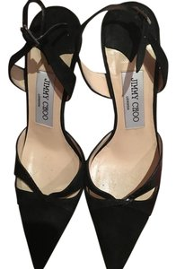 Jimmy Choo Suede Pattern Black Pumps