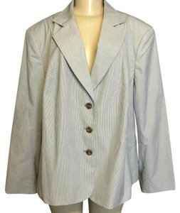 Talbots Blue and White Stripes Blazer