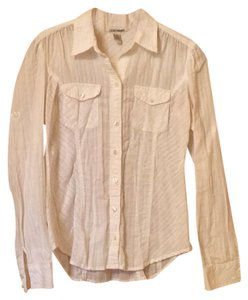 Lucky Brand Button Down Shirt White