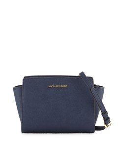 Michael Kors Selma Medium Black Cross Body Bag