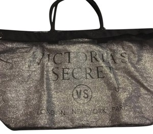Victoria's Secret Silver Glitter Travel Bag