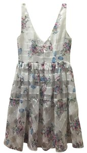 Anthropologie short dress White Floral Garden Feminine on Tradesy