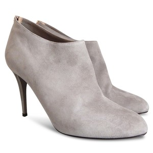 Jimmy Choo Suede Ankle Bootie Boot Gray Boots