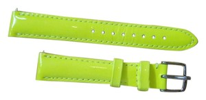 Michele 16MM YELLOW Green Patent Leather Watch Band