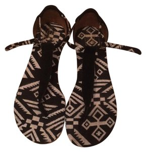 TOMS Black and white Sandals