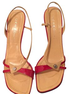 Casadei Red and beige Formal