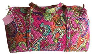 Vera Bradley Largeduffel Getaway Weekendbag Pink Swirls Travel Bag