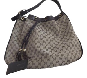 Gucci Hobo Drawstring Leather Shoulder Bag