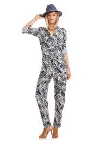 Trina Turk Jumpsuit Printed Navy Blue Dress