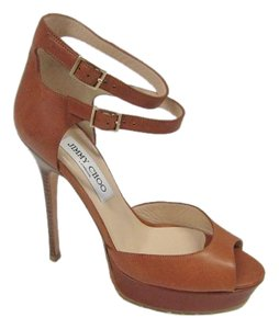 Jimmy Choo Platform Camel Sandals