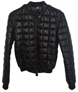 Burberry Leather Lambskin black Leather Jacket