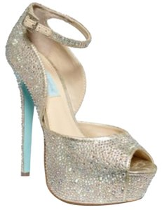 Betsey Johnson Champagne Platforms